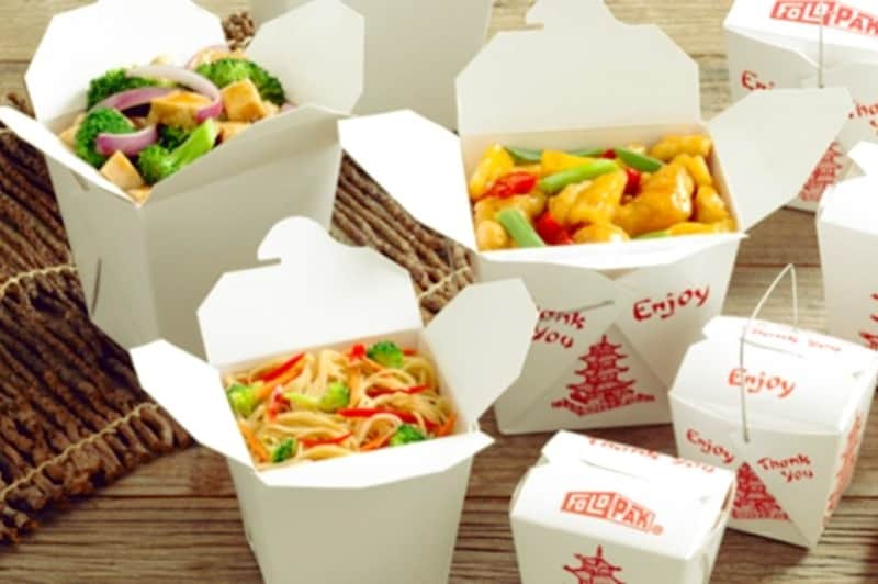 Boxes with chinese food